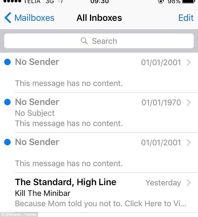 Pemakai iPhone Terima Email Hantu dari Masa Lalu