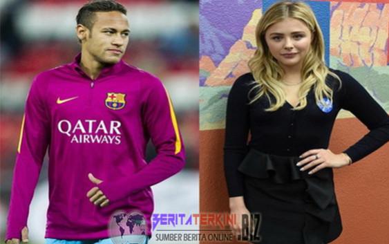 Neymar Sedang dekati Chloe Moretz