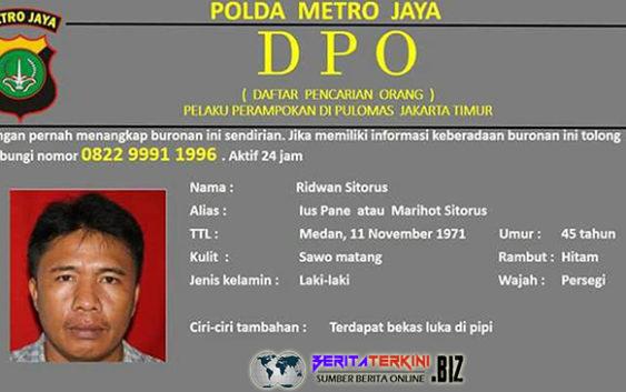 DPO Polda Metro Jaya Perampok Kejam Pulomas