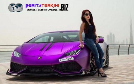 Kesan Feminim Dari Wanita Cantik Dengan Lamborghini Huracan Miliknya, Dubai