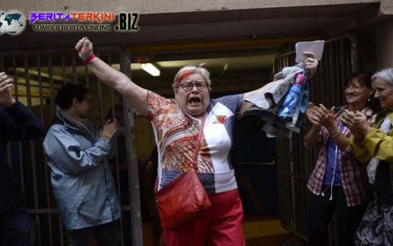 Aksi Keras Polisi Spanyol Mengakibatkan 38 orang terluka