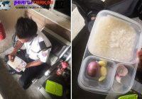 Foto Viral Satpam Makan Nasi Lauk Bawang, 90 Persen Gaji buat Keluarga di Kampung